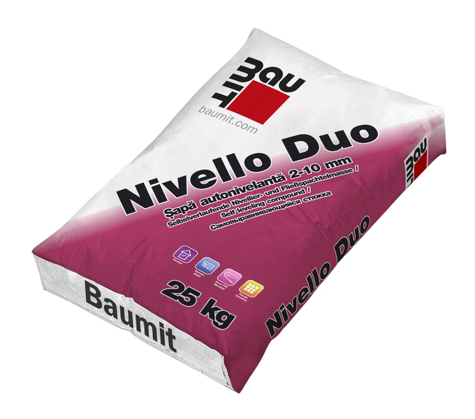Sapa autonivelanta pentru interior 2-10 mm, Baumit Nivello Duo, 25 kg